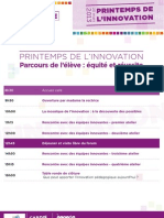 Programme Printemps de l'innovation 2013