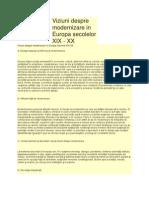 Viziuni despre modernizare în Europa sec xix xx