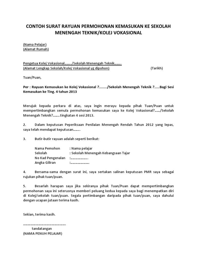 Contoh Surat Rasmi Permohonan Bekalan Elektrik Tnb - SRasmi