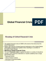 Global Financial Crisis.