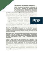ANTECEDENTES HISTÓRICOS DE LA PSICOLOGÍA COGNOSCITIVA