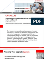 Planning Your Oracle e Business Suite Upgrade From Release 11i to 12.1 and Beyond