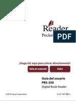 Instrucciones eBook Sony PRS-350
