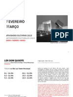 Programa Cultural Ene-Mar 2013