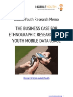 [DOWNLOAD MobileYouth Research Memo 7] The Business Case for Ethnographic Research of Youth Mobile Data Usage