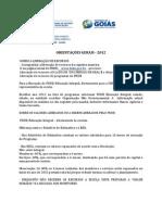 Orientações Gerais 2012 - PROGRAMA MAIS EDUCAÇÃO