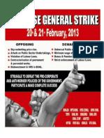 2 Days General Strike on 20, 21.02.2013