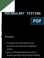 Vocab Testing