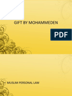 Gift Mohammeden Law