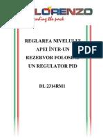 Item 170 - Reglarea nivelului apei într-un rezervor folosind un regulator PID