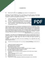 Marketing Unit Coursebook
