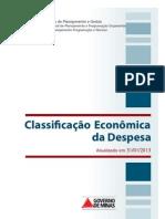 Classificador Da Despesa Atualizado Em 31-01-2013