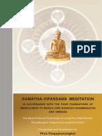 Samatha Vipassana Meditation