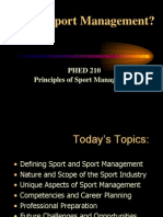 What is Sport Management