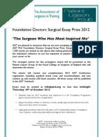 ASiT Foundation Doctor Essay Prize 2012