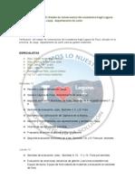 PROGRAMA COMISIÓN DGFFS A LAGUNA DE PACA
