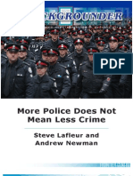 More Police Does Not Mean Less Crime