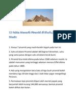 12 Fakta Menarik Piramid Di Khufu