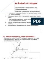 3. Velocity Analysis of Linkages