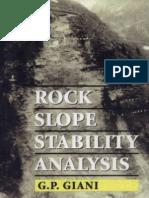 Rock Slope Stability Analysis, P Giani, 1992