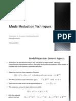 Model Reduction Techniques
