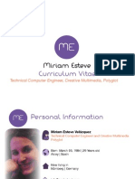 Porfolio & CV Miriam Esteve Engieneer Multimedia
