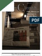 Vassar chronicle, November 2011