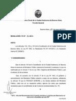Resolucion Fg Nc2ba 030 13 Aprueba Las Evaluaciones de Desempeno Del Personal y Aprueba El Concurso Interno Del Personal Del Mpf Ref Act Int Nc2ba 22838 12