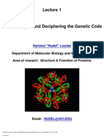 Lecture_1-Central Dogma and Deciphering the Genetic Code