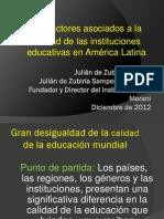 Factores Asociados a La Calidad de Las Instituciones Educativas