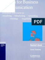 English for Business Communication Teachers Book