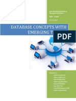 Database Concepts With Emerging Trends