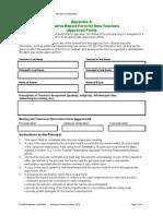 Report Form New Teachers