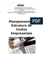 Planejamento e Estrutura de Custos Empresariais Cap1