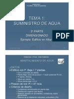 Dimensionado Suministro Agua EJEMPLO_EDIF