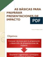 Reglas Bsicas Para Preparar Presentaciones de Impacto