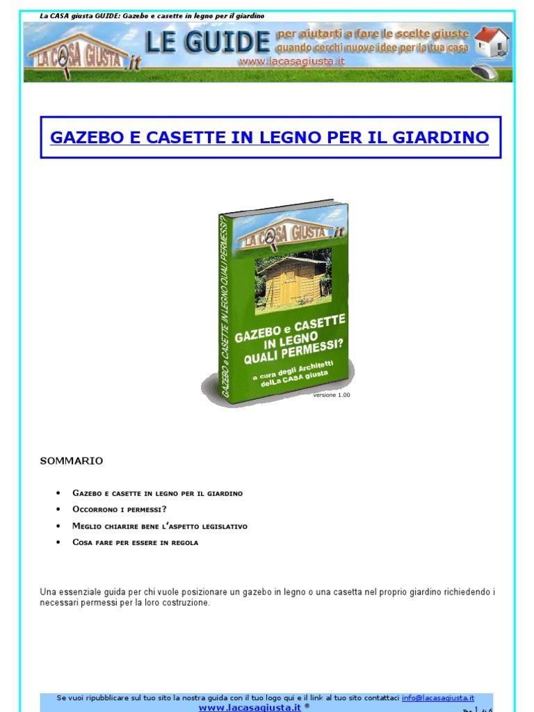 Casette In Legno Terrazzo Permessi fai da te - architettura) gazebo e casette in legno per il