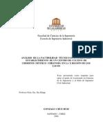 ANÁLISIS DE LA FACTIBILIDAD TÉCNICO-ECONÓMICA DEL ESTABLECIMIENTO DE UN CENTRO DE CULTIVO DE CHORITOS