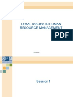 Legal Issues in Human Resources