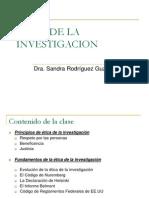 Etica de La Investigacion 2008