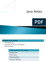 Java Notes Of25sessions