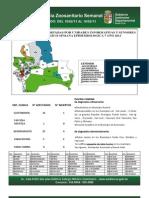 Semana Epidemiológica 7/2013, del sistema de vigilancia de Sanidad Animal; Santa Cruz, Bolivia
