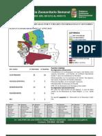 Semana Epidemiológica 1/2013, del sistema de vigilancia de Sanidad Animal; Santa Cruz, Bolivia