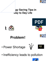 5. Energy Saving Tips in Day to Day Life