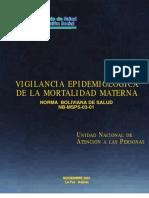 Muerte Materna Bolivia (Autopsia Verbal)