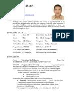 Resume of Julius Sison