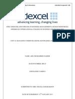 Managing Communication, Knowledge & Information