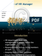 Role of HR Manager_Final