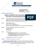 MEDIA ADVISORY - SDCTA Breakfast THURSDAY 7AM - The Future of Pension Reform