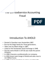 The US Foodservice Accounting Fraud